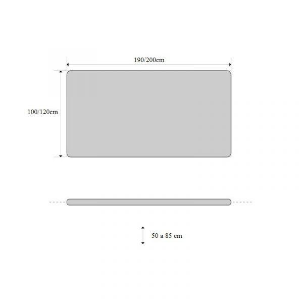 Schaarbanken   Electrische Bobath Behandeltafel CE-BOBATHx2 TJ 190-200